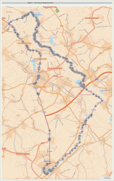 карта нашего пробега