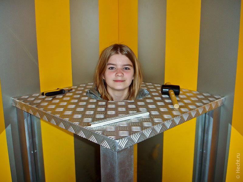 Лиза в научном музеи в Кёльне
